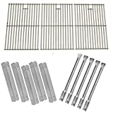 Jenn-Air 720-0709,720-0709B, 720-0727 Gas Grill Models Repait Kit Includes 5 Stainless Steel Burners, 5 Heat Shields and 8MM Stainless Steel Cooking Grids, Set of 3