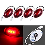 CCIYU For 1999 2010 Ford F350 F450 F550 LED Side Fender Marker Dually Bed Light 2 pairs Rear