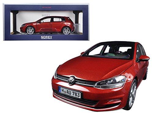 - Maisto 2014 Volkswagen Golf Red Metallic 1/18 Model Car by Norev
