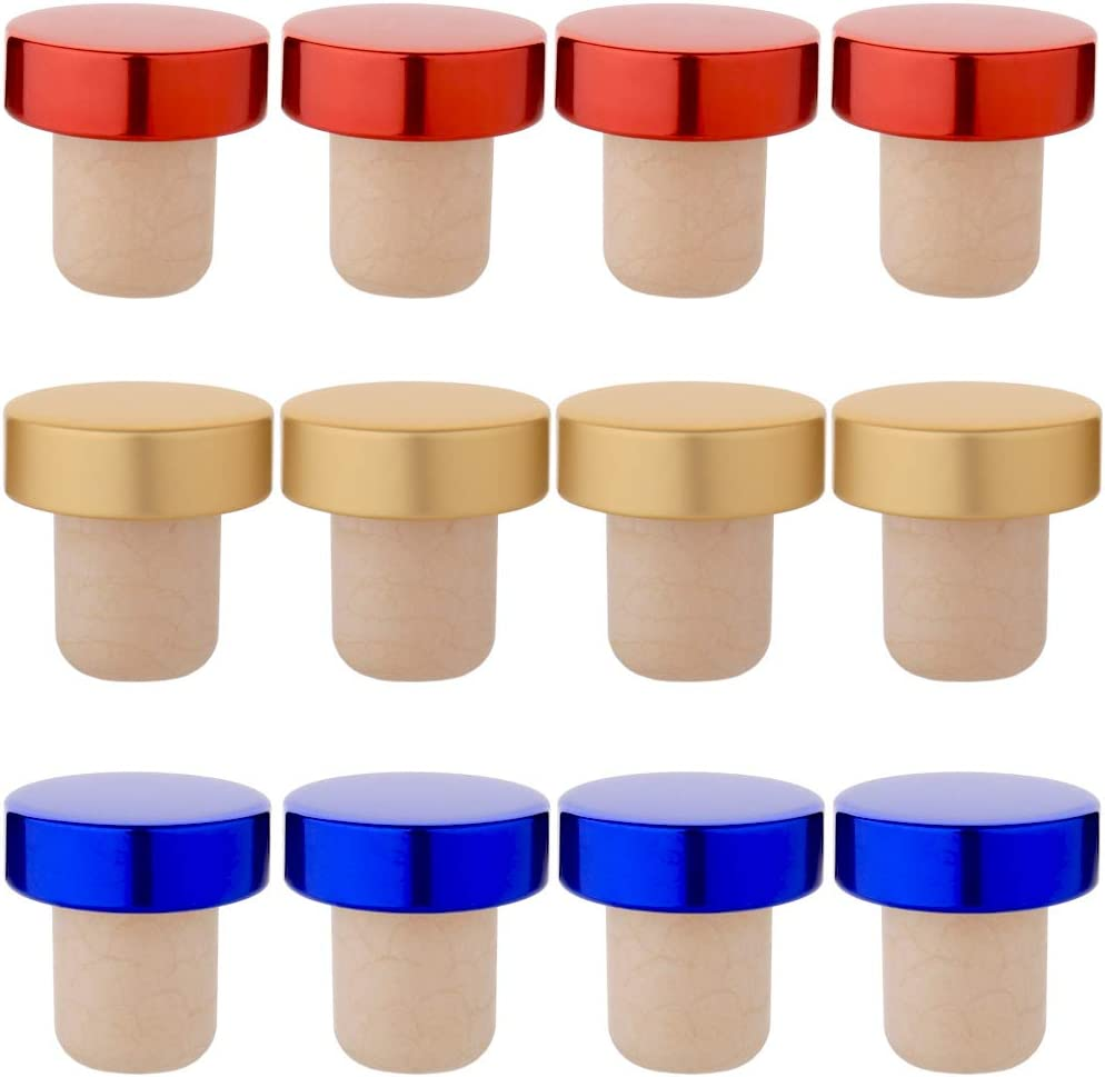 Natural Cork with Plastic Tops North Mountain Supply Bar Top Tasting Corks Bag of 12