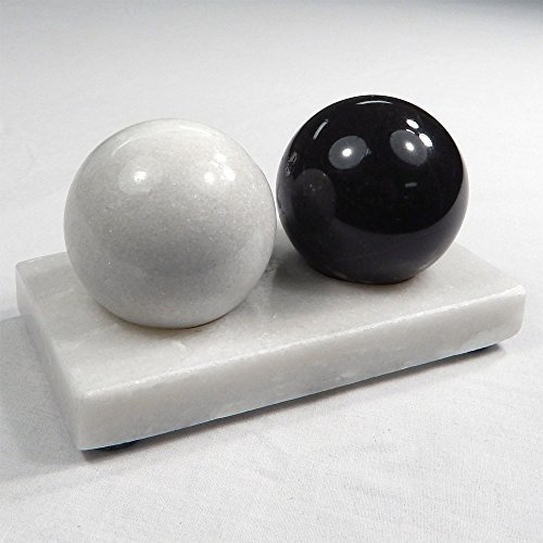 Acu-Balls Chinese Health Medicine Marble Baoding Stress Balls with Stand – Stone Massage Therapy Hand Exercise