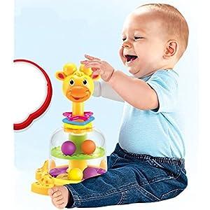Fajiabao Giraffe Motorikspielzeug für Kinder Baby (Style A)