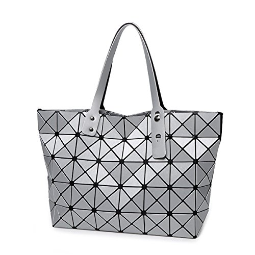 Japanese Spring Shoulder Tote Geometric Crutch Silver Satchel Bag Strawberryer Lingge Women Brushed Bags Leather wTIUqxAnt