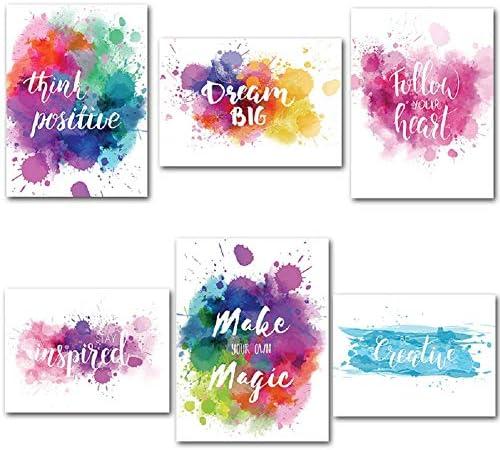 BJYHIYH Inspirational Posters Unframed Motivational product image