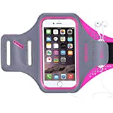 Triomph Armband for iPhone 8, 7, 6, 6S, SE, 5, 5C, 5S iPod Galaxy S6, S6 Edge S5 with Screen Protecter and Key Cards Money Holder, for Running, Workouts, Jogging, Hiking, Biking, Walking 5''