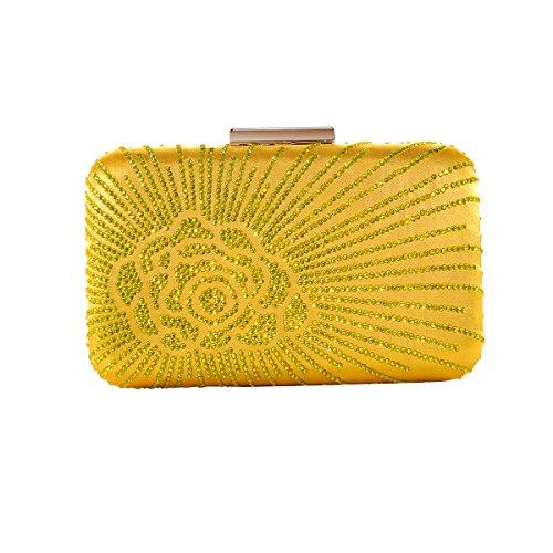 Yellow Jeweled Bag - 1