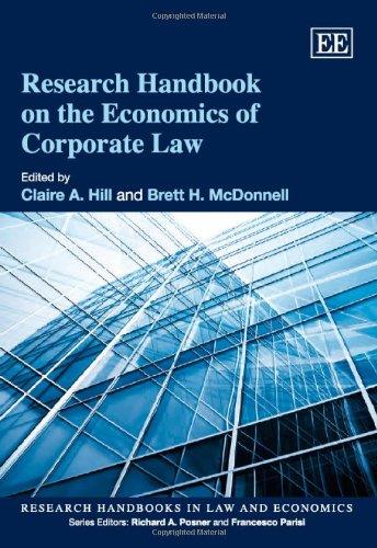 Research Handbook on the Economics of Corporate Law (Research Handbooks in Law and Economics series)
