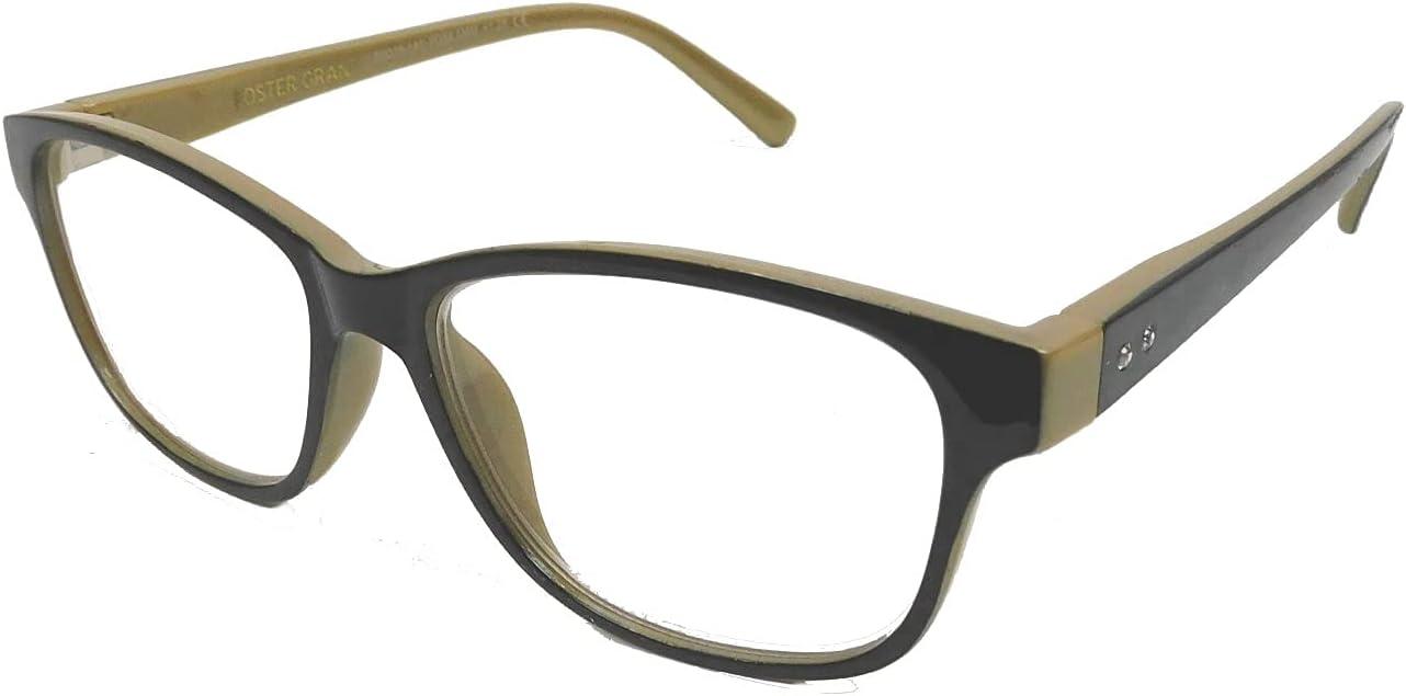 Foster Grant Kinsey Women's Premium Black Reading Glasses (2.75)