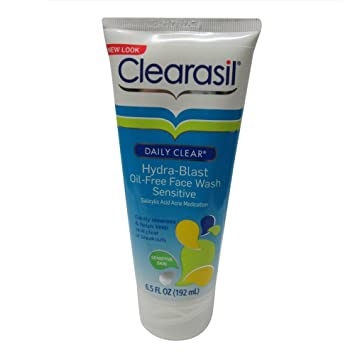 2 Pack - Clearasil Daily Clear Face Wash, Hydra-Blast Oil-Free, Sensitive 6.5 oz gamila secret cream bar wild rose (limited edition), 115g