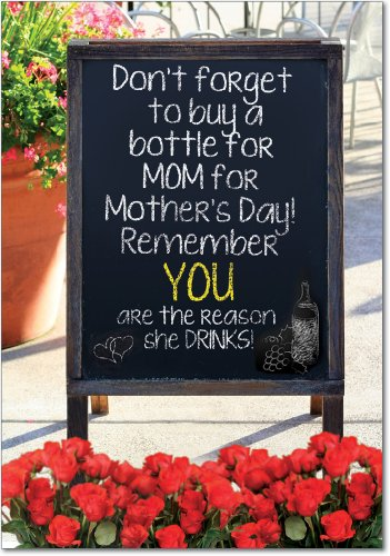 7319 'Mothers Love' - Funny Mother's Day Greeting Card with 5