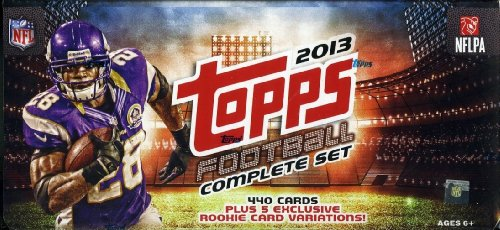 2013 Nfl Draft - 2013 Topps NFL Football Exclusive Complete Factory Sealed Factory Set with 440 Cards Plus 5 Card Special Variation Rookie Set.