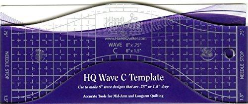 Hq Wave C Longarm Template by Handi gadgets