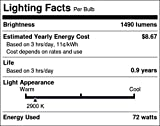 Philips 429241 100 Watt Equivalent Halogen Clear A19 Dimmable Light Bulb, Bright White, 24 Pack