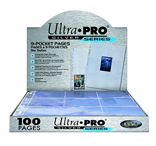 (Ultra Pro 9-Pocket Silver Series Page Protector for Standard Size Cards)