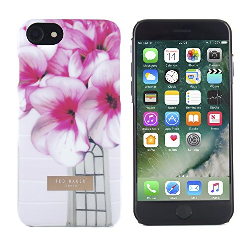 Official TED BAKER® SS17 Soft Feel Hard Shell Back Case / Cover for Apple iPhone 7, Protective Snap on Flower Print Case for iPhone 7 for Women - SYD- Window Box