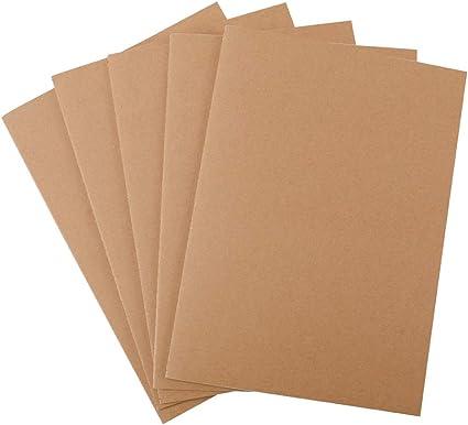 YILEEY Pack de 5 cuadernos, A4 Tapa de Kraft Blanda líneas 60 ...