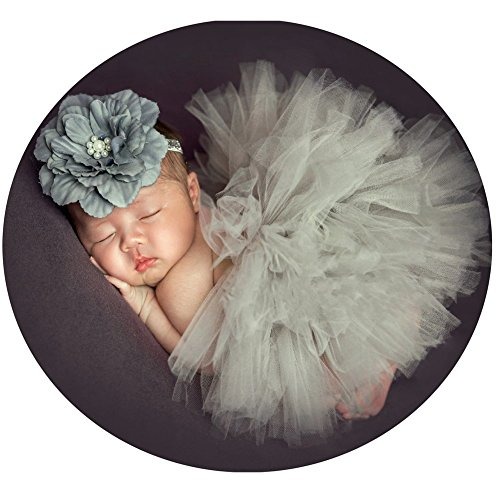 Baby Photography Props Tutu Skirt Headdress Newborn Girl Photo Shoot Outfits Infant Princess Costume Clothes