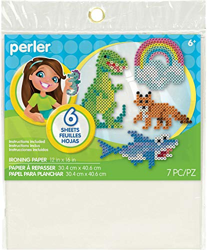 Perler Ironing Paper for Beads Crafts for Kids, 12'' x 16'', 7 -