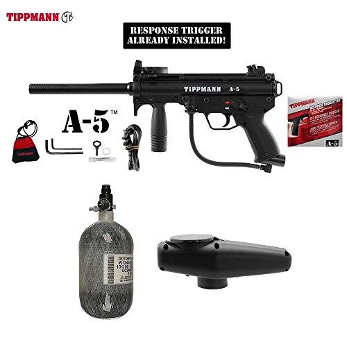 (MAddog Tippmann A5 A-5 w/Response Trigger HPA Paintball Gun Package - Black)