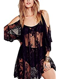 Women Summer Hot Lace See Through Bikini Cover Up Swimwear Swimsuit
