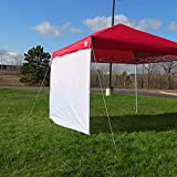 Sunnydaze Sidewall Kit for Straight Leg Canopies - Includes One 12 foot Side Walls, Canopy Sold Separately
