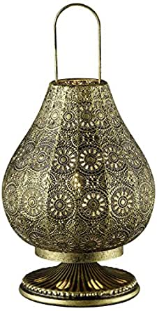 Trio Lighting Lámpara de mesa, Bronce antiguo, 36 cm