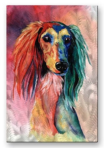 Metal Contemporary  Dog Painting Wall Art Decor