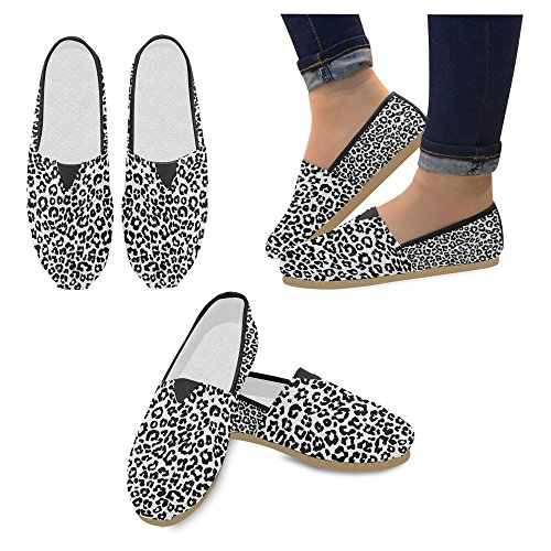 Interestprint Femmes Mocassins Classique Casual Toile Glisser Sur La Mode Chaussures Sneakers Mary Jane Appartements Léopard Animal