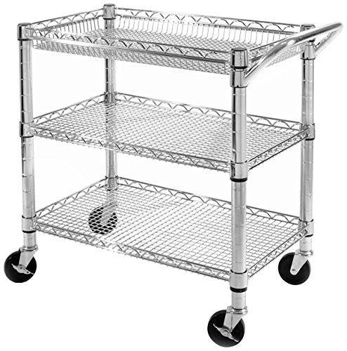 (Seville Classics Heavy-Duty Commercial-Grade Utility Cart, NSF Listed)