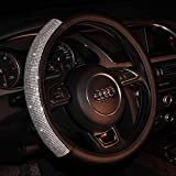 4 Keshi Bling Rhinestones Car Steering Wheel Cover Leather Handcraft Covers For Girls