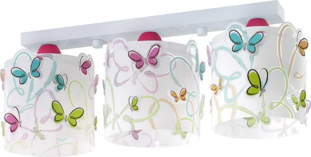 LED Lampe Kinderzimmer Decke Deckenleuchte Schmetterling 62143 Warmweiß 1300lm Mädchen