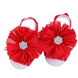 Muxika®Baby Girls Toddler Infant Sock Sandals Shoes Barefoot Blooms Shoes (Red)