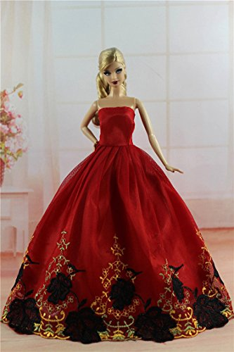 Barbie Fashion Princess Party Dress/Evening Clothes/Gown For Barbie