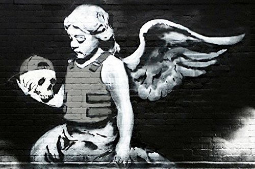 Banksy Ozones Angel Graffiti Art Print Poster
