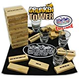 "Homeware Deluxe Drunken Tower ""The Grab A Piece Drinking Game"" with Exclusive ""Matty's Toy Stop"" Storage Bag"