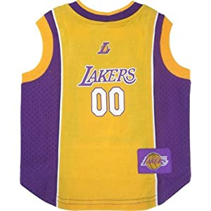 LOS ANGELES LAKERS Dog Jersey ★ ALL SIZES ★ Licensed NBA (Small)