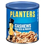Planters Cashew Halves & Pieces, Salted, 14 Ounce Canister (Pack of 3)