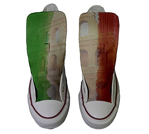 Converse All Star Hi Customized personalisierte Schuhe (Handwerk Schuhe) Colosseo Tricolore
