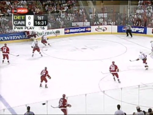 2002 Playoff Game - June 8, 2002: Detroit Red Wings vs. Carolina Hurricanes - Stanley Cup Final Game 3