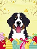 Caroline's Treasures BB1919GF Bernese Mountain Dog Easter Egg Hunt Garden Flag, Small, Multicolor For Sale