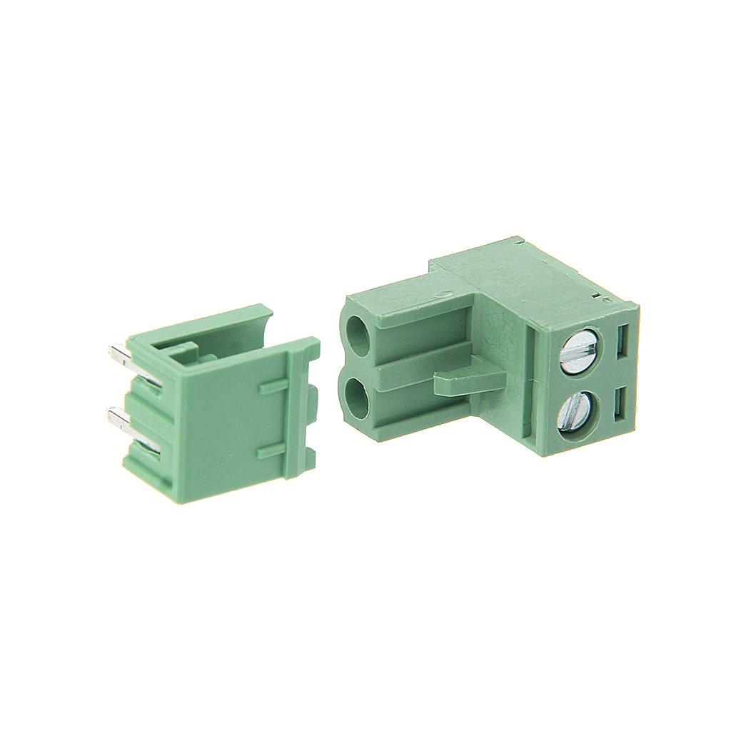 Ranuw 10/Ensembles de 2//3//4//5//6//7//8P Angle droit terminal Block 300/V 10/A 5.08/mm Pas connecteur PCB