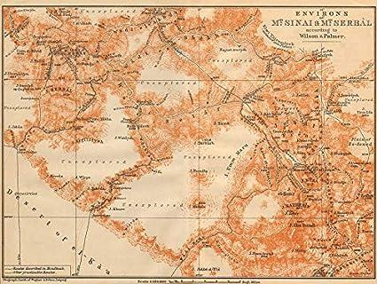 Amazon Com Environs Of Mount Sinai And Mt Serbal Egypt 1912