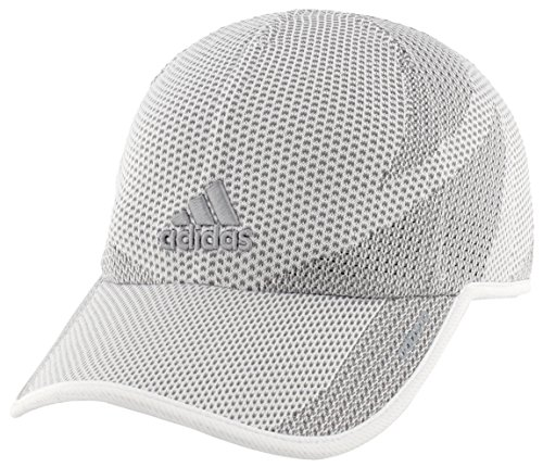 adidas Women's Adizero Primeknit Cap, White/Grey, One - Custom Running Visors