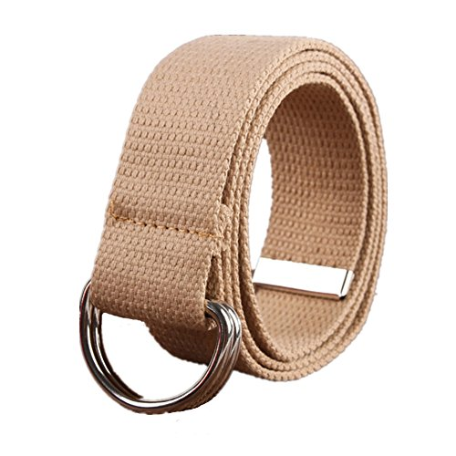 Ladies D-ring Belt (Sunsnow Canvas Web Belt Double D-Ring Buckle 1.5