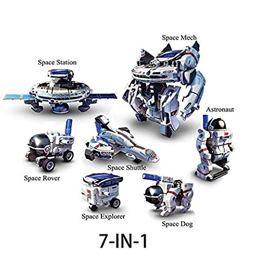 DIY Educational 7in1 Solar Robots Space Fleet…