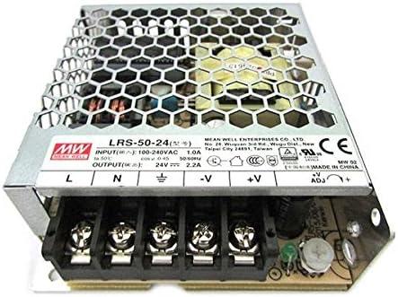 Fuente de alimentación LED 50W 24V 2A; MeanWell, LRS de 50–24