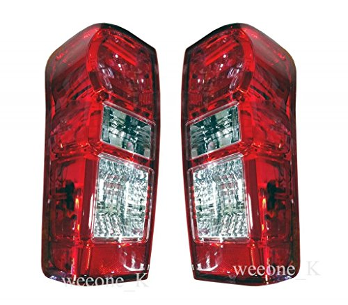 K1AutoParts Rear Taillights Tail Light Lamps (For L.E.D Brake Light) For Isuzu D-max Dmax 2012 2013 2014
