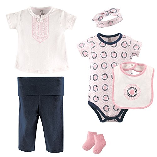 Yoga Sprout Baby 6 Piece Layette Set, Ornamental Collection, 3-6 Months (Piece Layette)