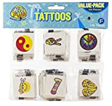 US Toy Retro Temporary Tattoos (Part Pack: 288 Count)