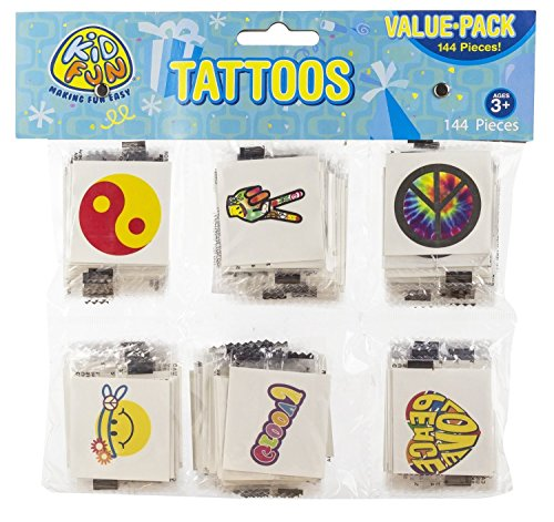 US Toy Retro Temporary Tattoos (Part Pack: 288 Count) by U.S. Toy